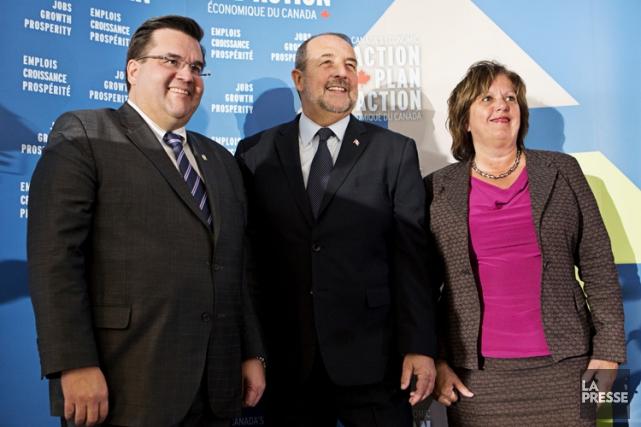 Le ministre de l'Infrastructure et des Collectivités, Denis... (PHOTO PATRICK SANFAÇON, LA PRESSE)