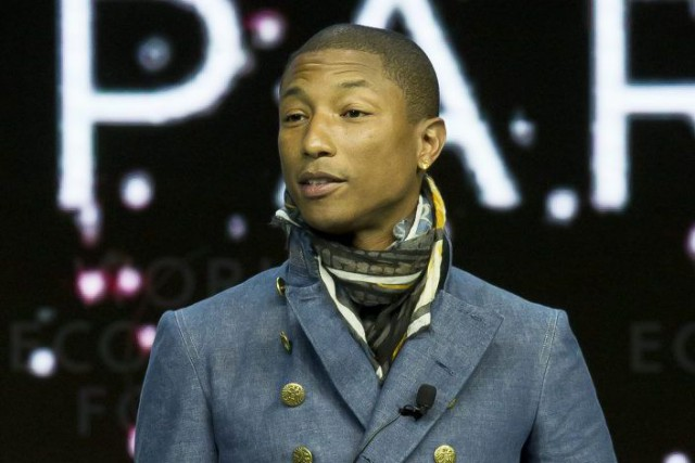Pharrell Williams, qui se trouve actuellement à Davos,... (Photo Michel Euler, AP)