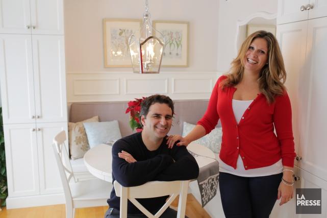 L'animatrice télé Saskia Thuot et son conjoint, le... (Photo Martin Chamberland, La Presse)