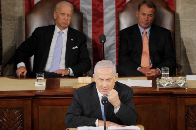 Un discours devant les deux chambres du Congrès... (PHOTO SAUL LOEB, ARCHIVES AFP)