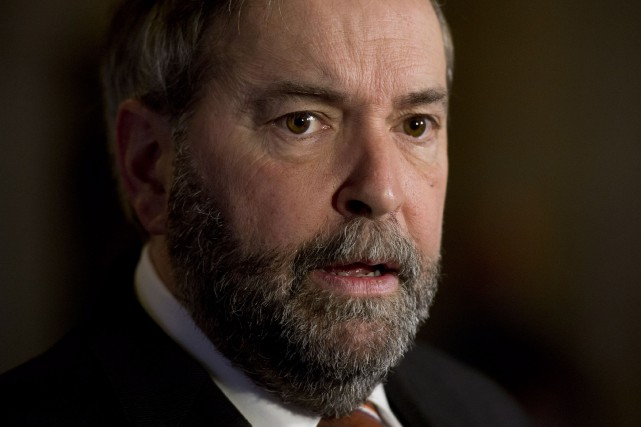 Le chef du NPD, Thomas Mulcair... (Archives La Presse Canadienne)