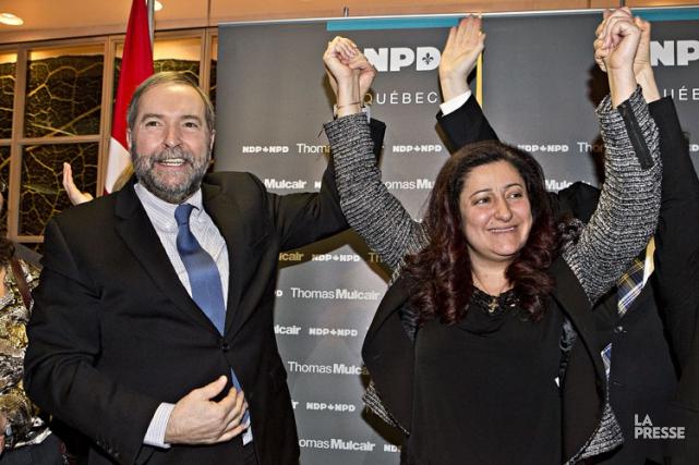 Signe de l'importance qu'accorde le NPD à sa... (Photo: Patrick Sanfaçon, La Presse)
