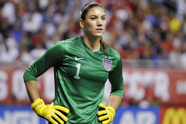 Hope Solo... (Photo: AP)