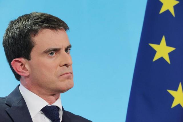 Le premier ministre Valls, qui a rappelé qu'il... (PHOTO PHILIPPE WOJAZER, REUTERS)