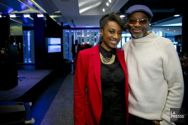 La chanteuse Valérie Daure et le musicien Alan... (PHOTO DAVID BOILY, LA PRESSE)