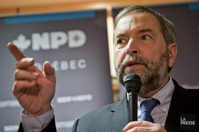 De passage à Montréal jeudi, Thomas Mulcair a... (La Presse, Patrick Sanfaçon)