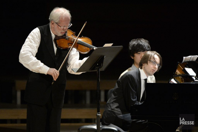 Le violoniste Gidon Kremer et le pianiste Daniil... (PHOTO BERNARD BRAULT, LA PRESSE)