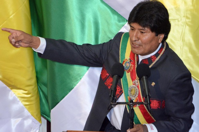 Le premier président amérindien de Bolivie, ancien berger... (PHOTO JAVIER MAMANI, AFP)