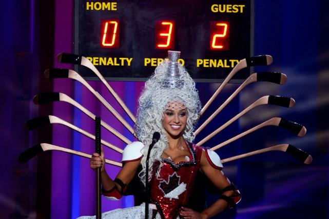 La Canadienne Chanel Beckenlehner participe auconcours Miss Universe.... (Photo J Pat Carter, AP)