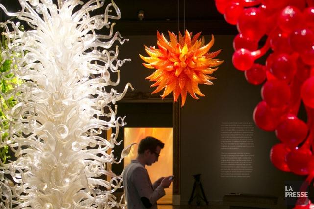 Des oeuvres deDale Chihuly, ici exposées à Montréal.... (Photo archives La Presse)