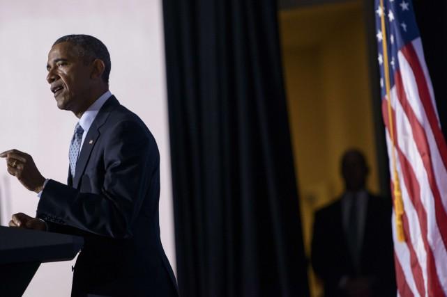 Le président a été amené à parler de... (Photo AFP)