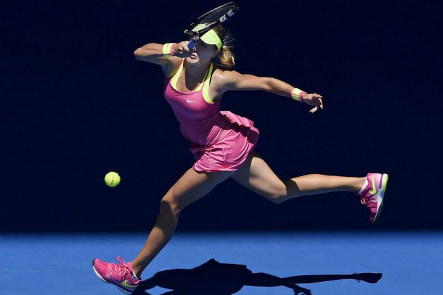 La prochaine adversaire d'Eugenie Bouchard sera la gagnante du... (Andy Brownbill, Associated Press)