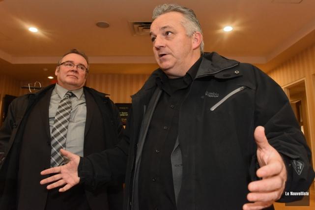 Claude Villemure (à droite), propriétaire notamment des Ailes... (Photo: François Gervais Le Nouvelliste)