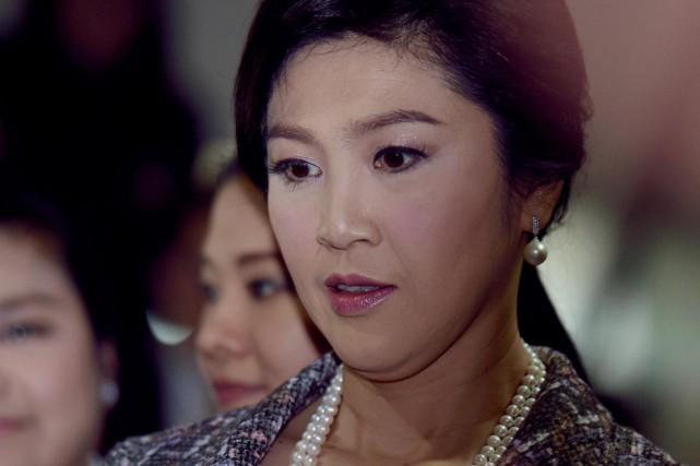 L'ex-première ministre thaïlandaise Yingluck Shinawatraavait témoigné devant l'Assemblée... (PHOTO PORNCHAI KITTIWONGSAKUL, ARCHIVES AFP)