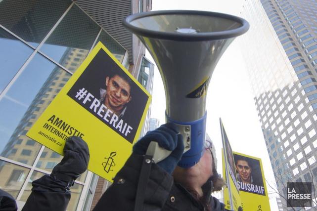 Une manifestation s'est tenue, hier, à Montréal, en... (PHOTO IVANOH DEMERS, LA PRESSE)