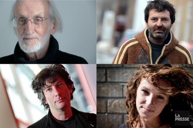 Jacques Poulin,François Blais,Marie Larocque etNeil Gaiman.... (PHOTOMONTAGE LA PRESSE)