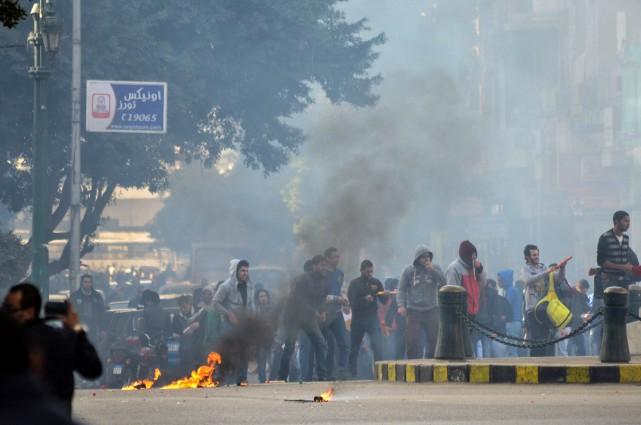 Depuis que l'armée a évincé le président Mohamed... (PHOTO ARCHIVES AFP)