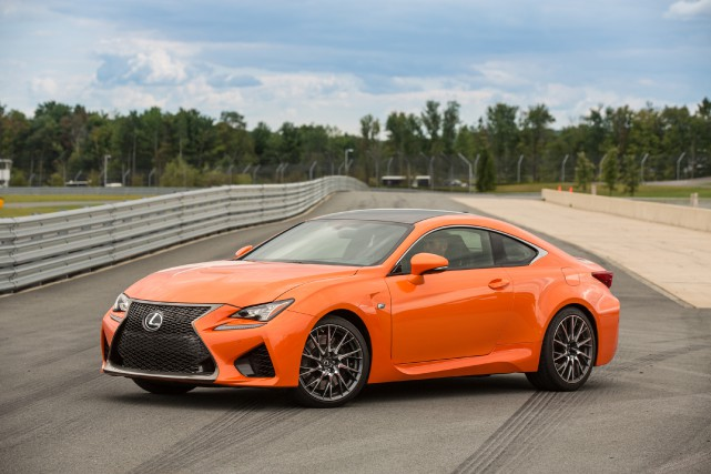 La Lexus RC F... (Photo fournie par Lexus)