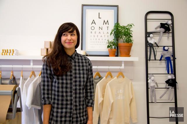 Avec sa marque La Montréalaise Atelier, Sabrina Barilà... (Photo Alain Roberge, La Presse)