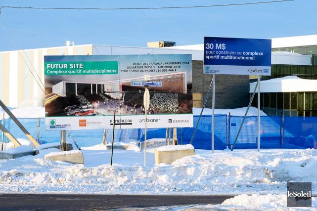 Le projet controversé du complexe sportif de Saint-Augustin... (Photothèque Le Soleil)