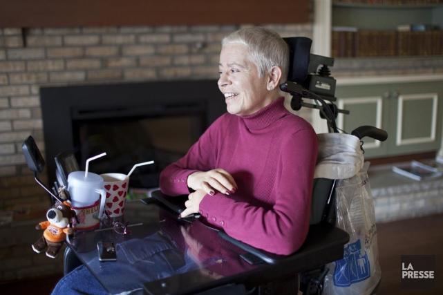 Hélène Leduc était devenue tétraplégique à la suite... (PHOTO EDOUARD PLANTE-FRÉCHETTE, ARCHIVES LA PRESSE)