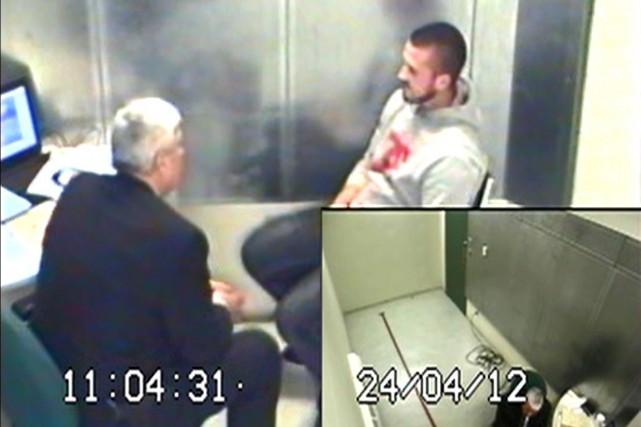 Jean-Michel Legault, 27 ans, est accusé du meurtre... (PHOTO TIRÉE D'UNE VIDÉO DÉPOSÉE À LA COUR)