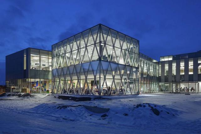 La bibliothèque Marc-Favreau, dans Rosemont.... (Photo Michel Brunelle)