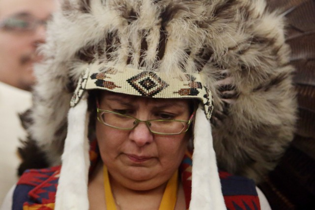 La chef de la Première Nation Attawapiskat, Theresa Spence.... (Archives, La Presse Canadienne)