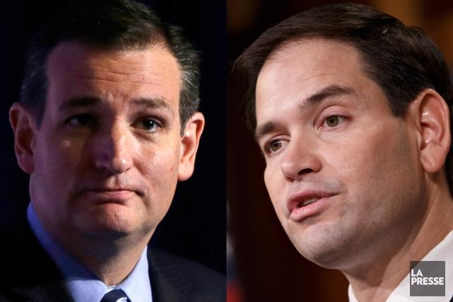Ted Cruz et Marco Rubio... (PHOTOMONTAGE LA PRESSE)