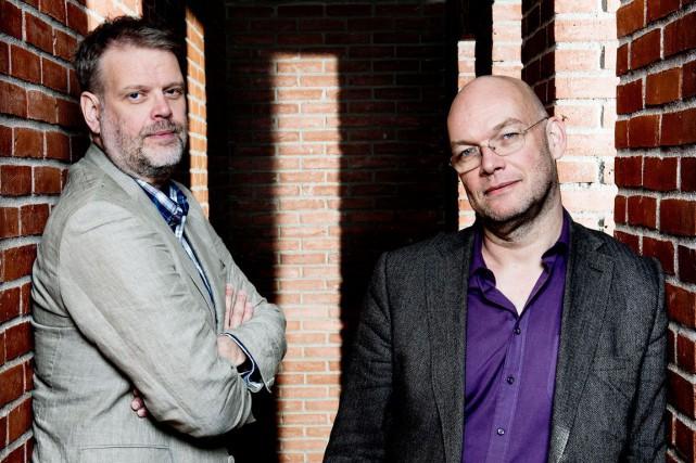 Les auteurs suédois Hans Rosenfeldt et Michael Hjorth.... (Courtoisie, Magnus Liam Karlsson)