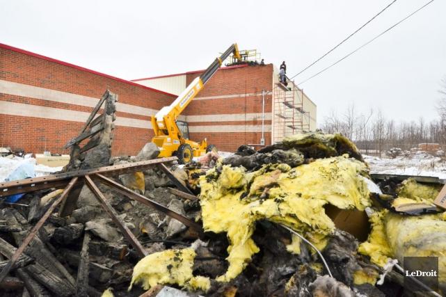 Un incendie a frappé les locaux de l'entreprise... (Martin Roy, LeDroit)
