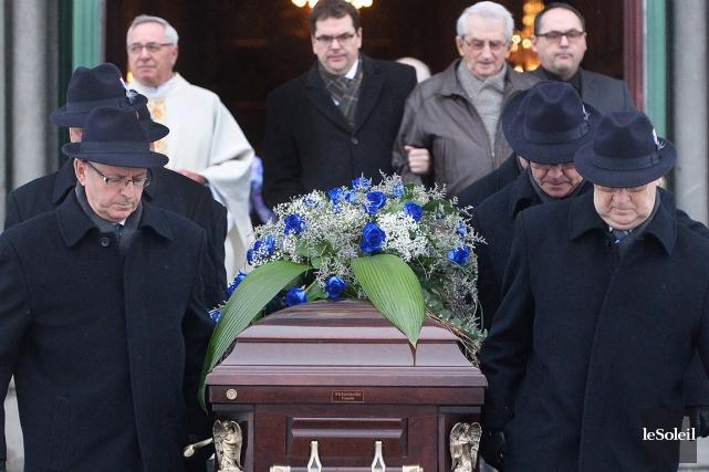 Les funérailles de Michel Guimond se sont tenues... (Photo Le Soleil, Jean-Marie Villeneuve)