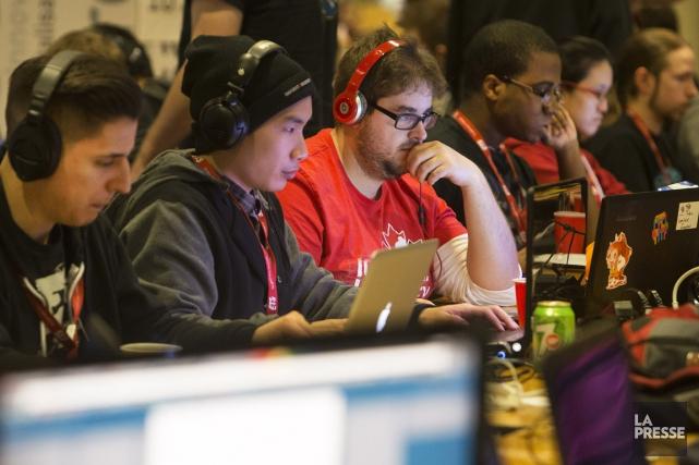 Le sixième concours Global Game Jam a attiré... (PHOTO ROBERT SKINNER, LA PRESSE)