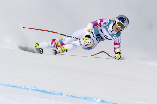 Lindsey Vonn... (PHOTO GUENTER SCHIFFMANN, AFP)