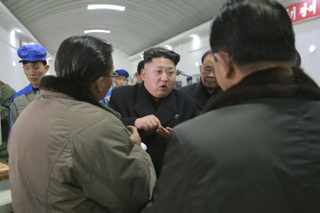 La Corée du Nord est coutumière de discours... (PHOTO KCNA/REUTERS)