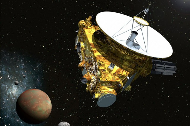 Cette illustration montre New Horizons approchant de Pluton et... (ILLUSTRATION AFP/NASA)
