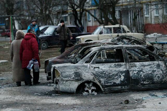 Marioupol, situéesur les bords de la mer d'Azov,... (PHOTO ANATOLII BOIKO, AFP)
