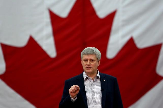 Le premier ministre Stephen Harper... (PHOTO FRED CHARTRAND, PC)