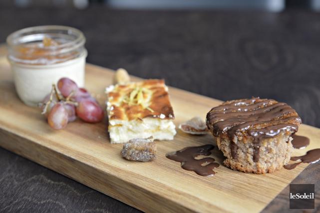 Planche de desserts avec panna cotta, fiadone et... (Le Soleil, Pascal Ratthé)
