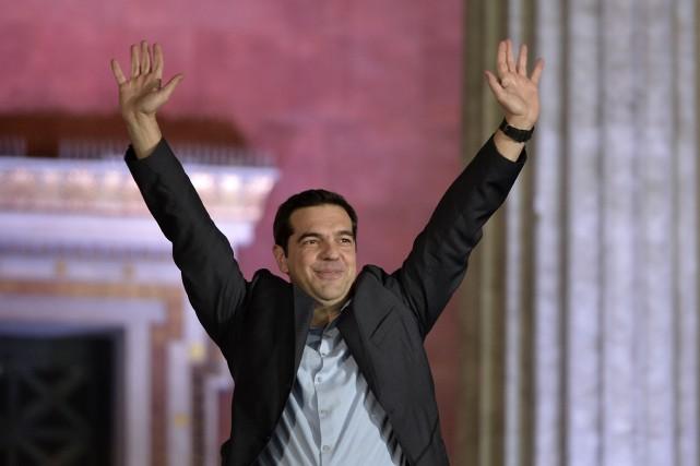 Alexis Tsipras à la tête du partiSyriza... (Photo: AFP)