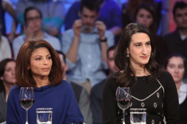 La conjointe deRaifBadawi, Ensaf Haidar, et Mireille Elchacar,... (Photo Radio-Canada)
