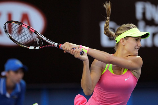 Eugenie Bouchard n'a jamais vaincu Maria Sharapova en... (Photo Bernat Armangue, AP)