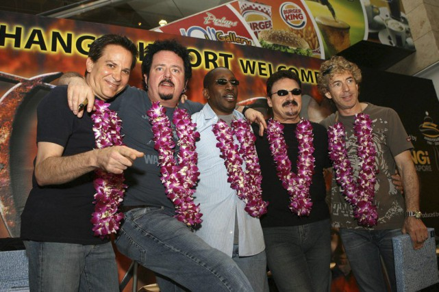 Mike Porcaro, Steve Lukather, Greg Philinganes, Bobby Kimball... (PHOTO ROSLAN RAHMAN, ARCHIVES AGENCE FRANCE-PRESSE)