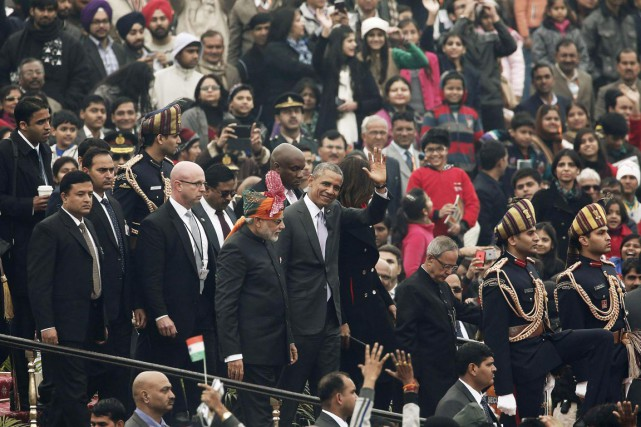 En visite jusqu'à mardi à New Delhi, Barack... (PHOTO ADNAN ADIDI, REUTERS)