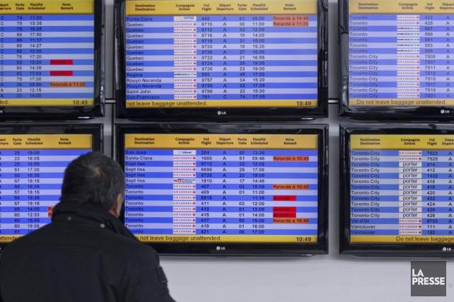 Presque tous les vols partant de Montréal et... (Photo Hugo-Sebastien AUBERT, archives La Presse)