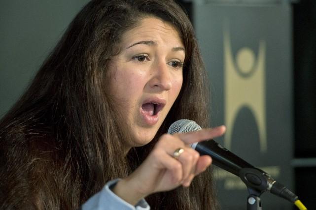 La journaliste Zineb El-Rhazoui... (PHOTO RYAN REMIORZ, PC)