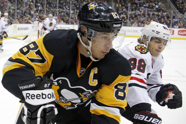Le joueur de centre des Penguins de Pittsburgh Sidney Crosby ratera le match de... (Photo: AP)