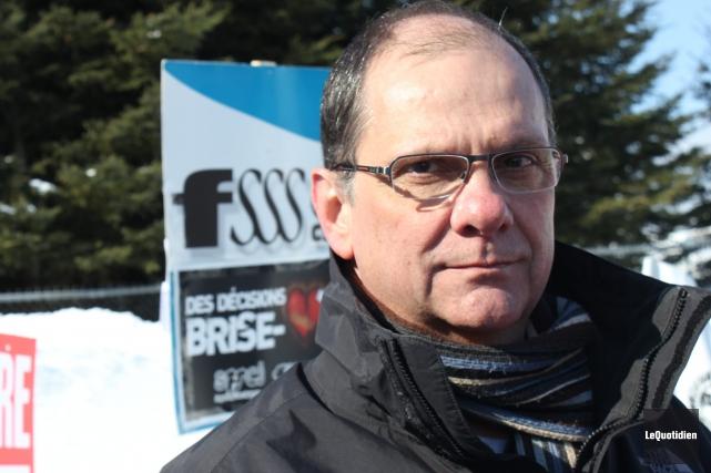 Le vice-président régional de la FSSS-CSN, Gaston Langevin.... ((Archives Le Quotidien))