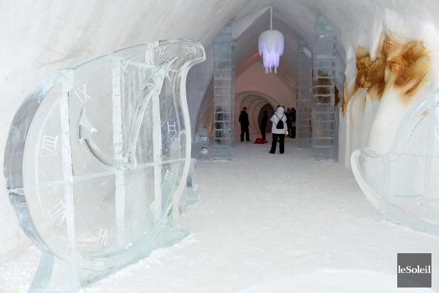 L'Hôtel de glace lors de son ouverture... (Photothèque Le Soleil, Erick Labbé)