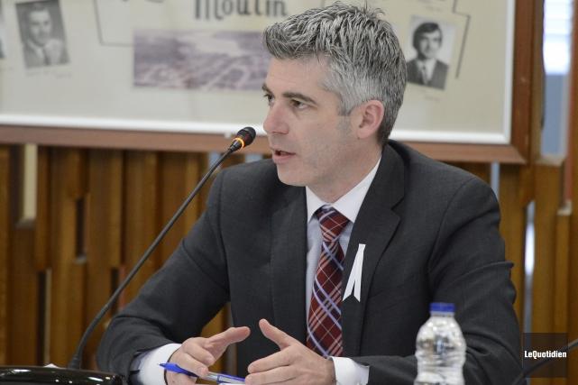 Luc Boivin, président du CLD de Saguenay.... ((Archives Le Quotidien))